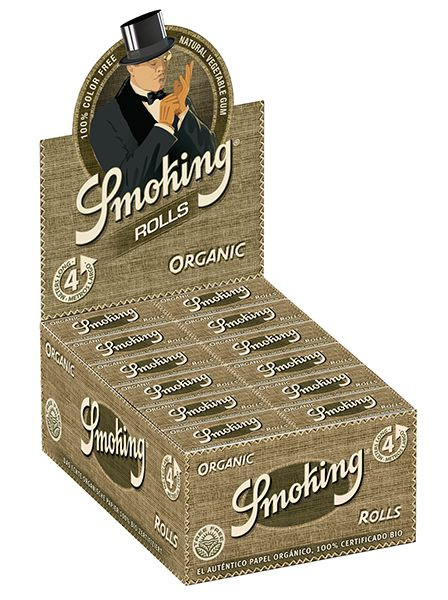 SMOKING ORGANIC ROLLS PACK OF 24 UNITS