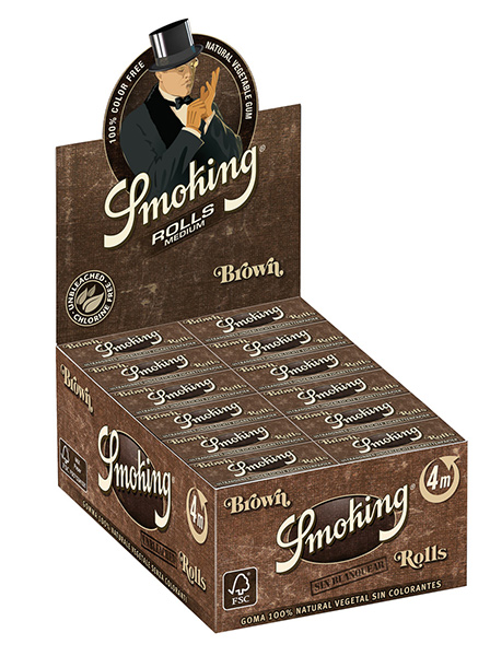 Smoking Brown rolls unbleached pack of 24 units