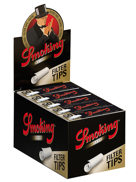 SMOKING FILTER TIPS DELUXE MEDIUM PACK OF 25 UNITS