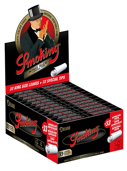 SMOKING DE LUXE KING SIZE WITH Tips pack of 24 UNITS
