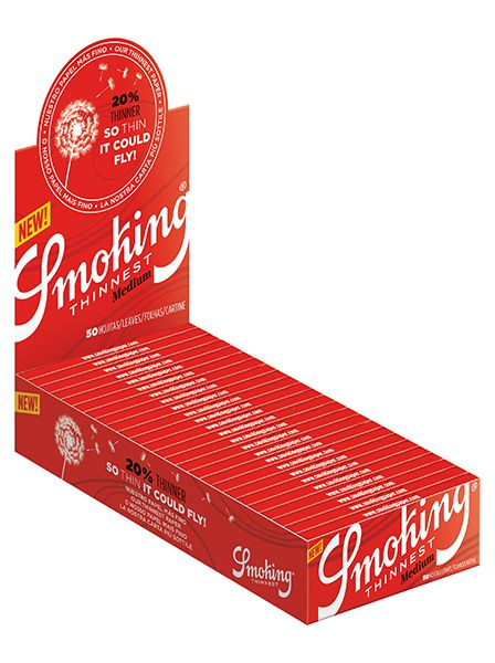 Smoking Red thinnest medium pack of 25 units